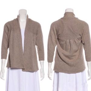 Vince Swing Cashmere Open Cardigan In Sesame